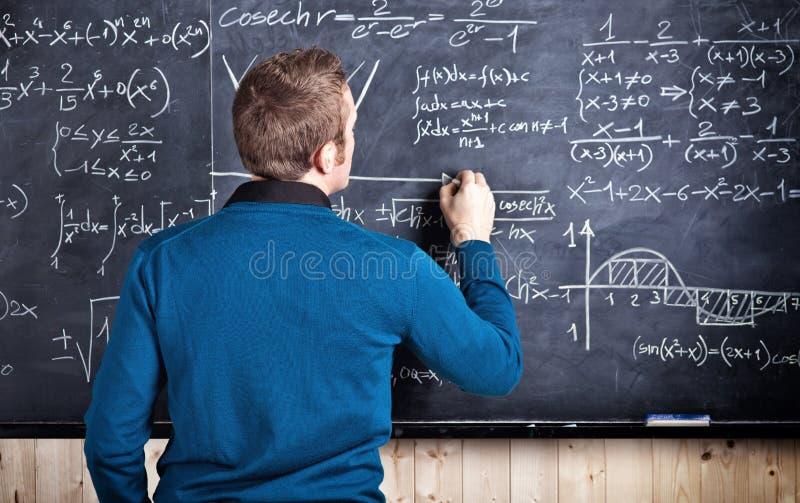 Lehrer bei der Arbeit lizenzfreies stockbild