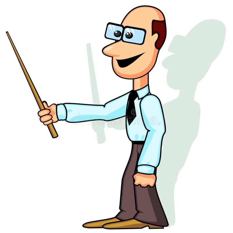 Lehrer oder Geschäftsmann mit Nadelanzeige vektor abbildung