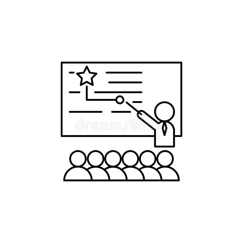 Lehrer, Trainer, Star, Lehrer-Ikone Element des Lebensbussymbols vektor abbildung