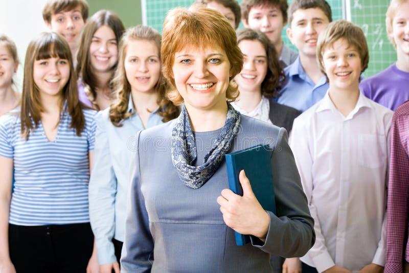 Lehrer und Kursteilnehmer stockfotografie