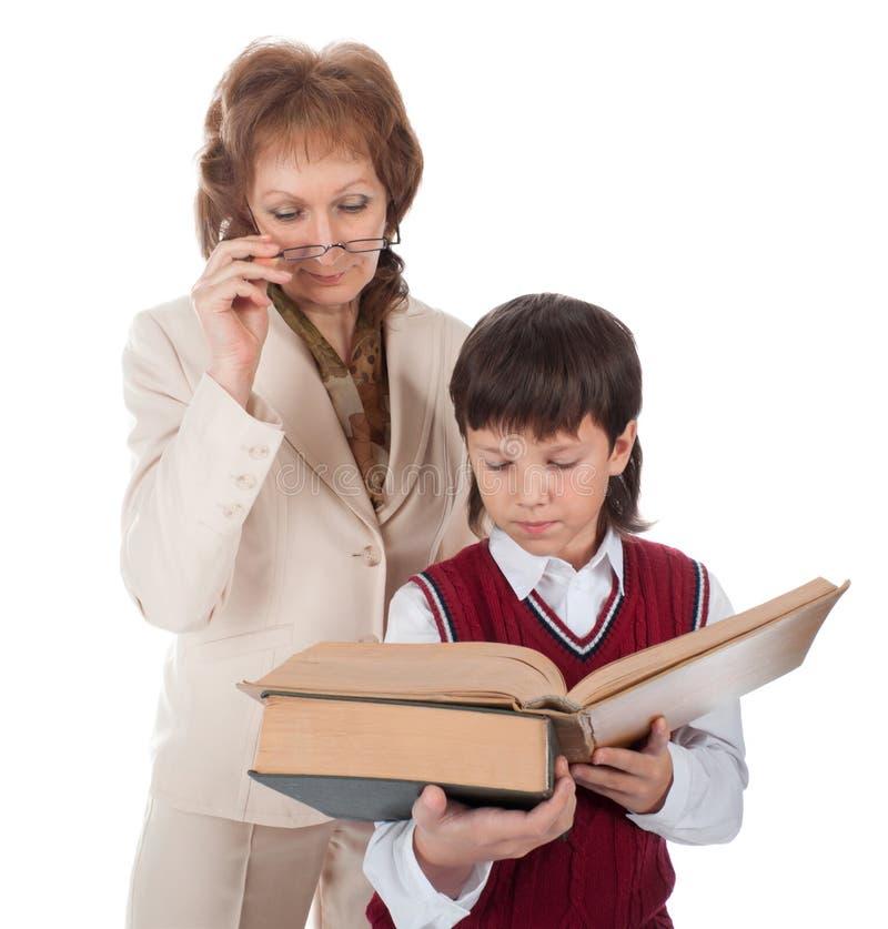Lehrer und Schüler stockfoto
