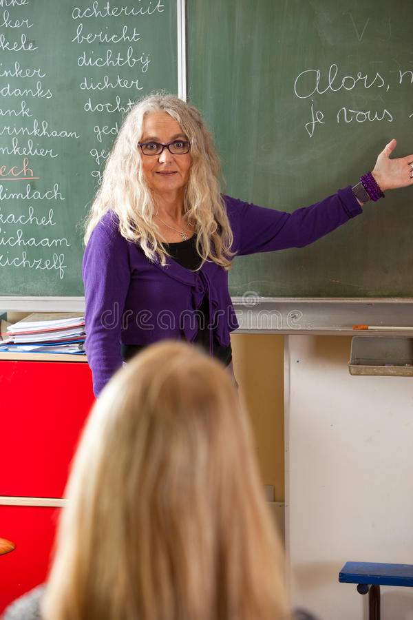 Lehrererklären lizenzfreie stockfotos