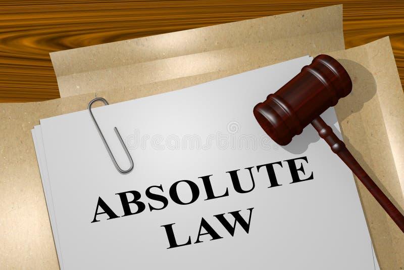 Lei absoluta - conceito legal ilustração do vetor