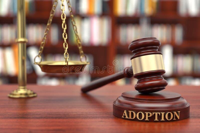 Lei da adoção imagens de stock royalty free