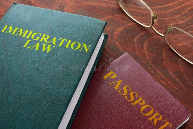 Lei da imigração fotografia de stock