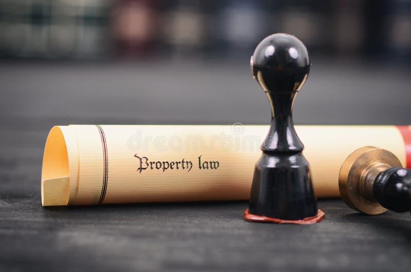 Lei da propriedade, selo de notário, conceito da legalidade, ato da lei da propriedade fotografia de stock