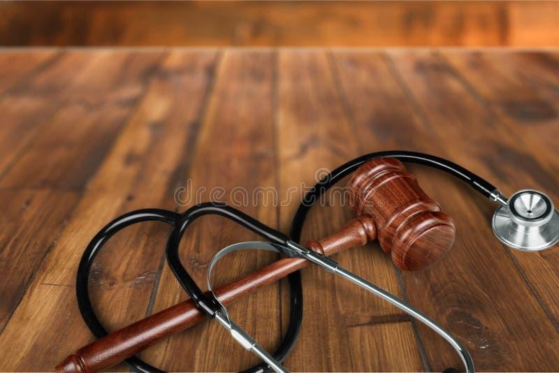 Lei dos cuidados médicos e da medicina imagem de stock