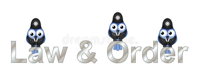 Lei e ordem Reino Unido ilustração do vetor