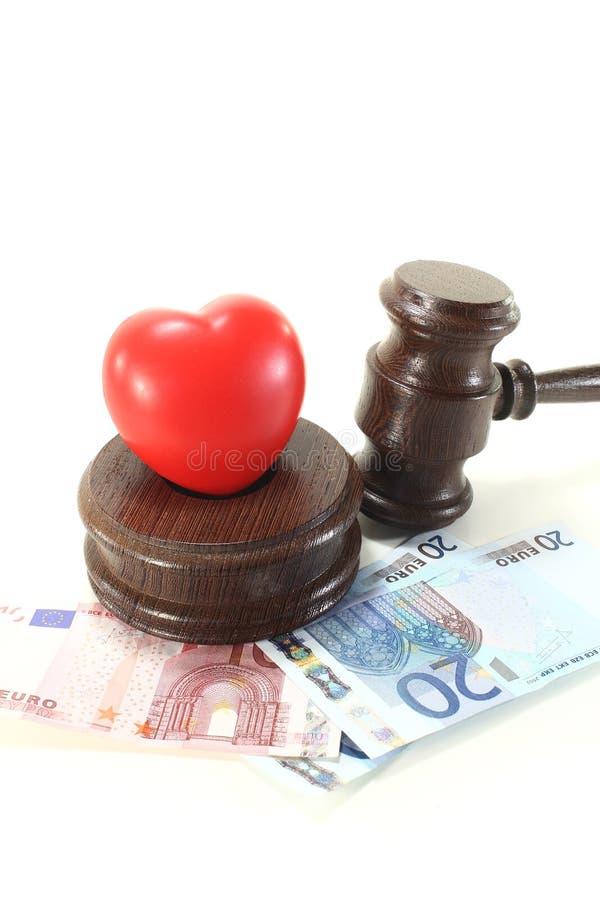 Lei médica com gavel dos juizes foto de stock royalty free