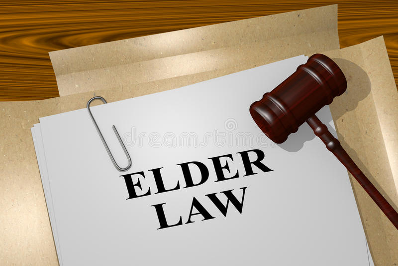 Lei mais velha - conceito legal ilustração stock