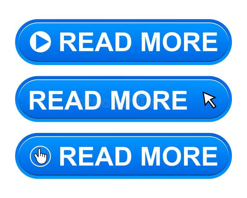 Leia mais botão ilustração stock
