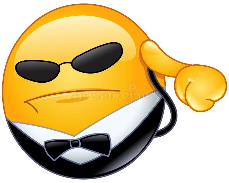 Leibwächter Emoticon lizenzfreie abbildung