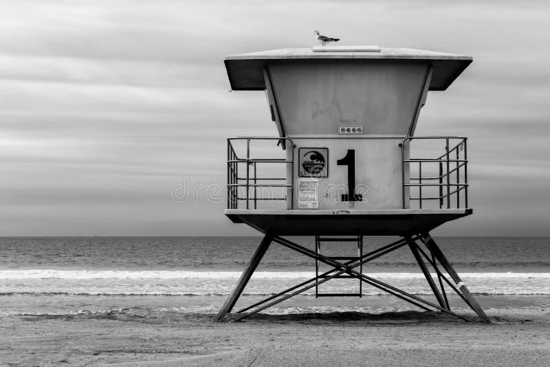 Leibwächter Shack in Süd-Kalifornien lizenzfreie stockfotos