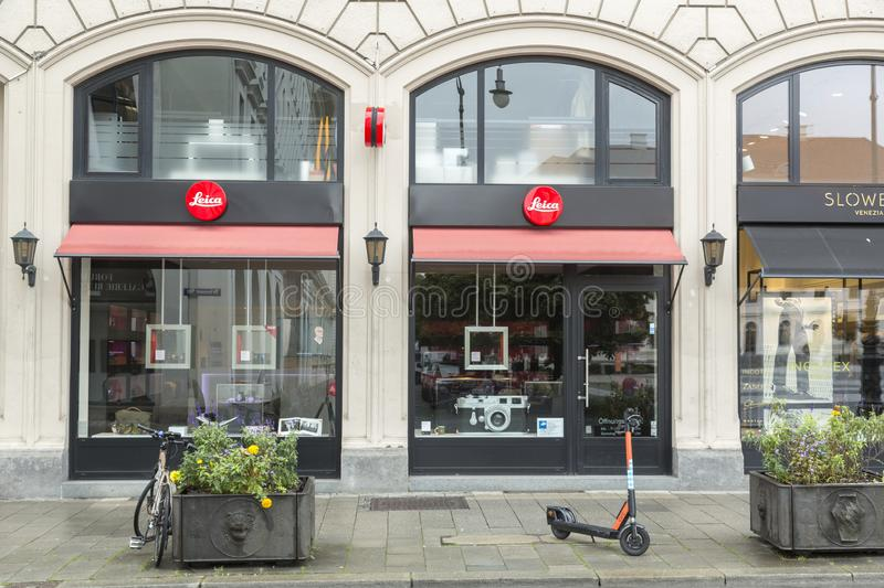 Leica Camera shop in Munich, Germany royalty free stock photos