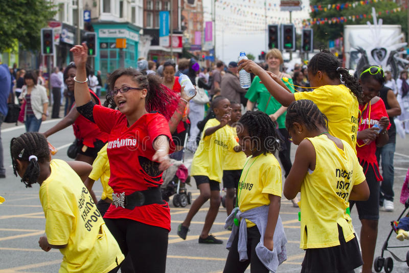 Leicester Caribbean Carnival, UK 2010 stock photo