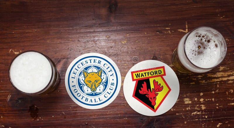 Leicester contre Watford image libre de droits