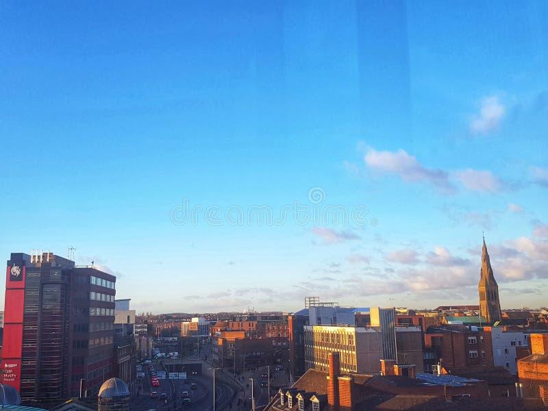 Leicester miasta linia horyzontu fotografia royalty free