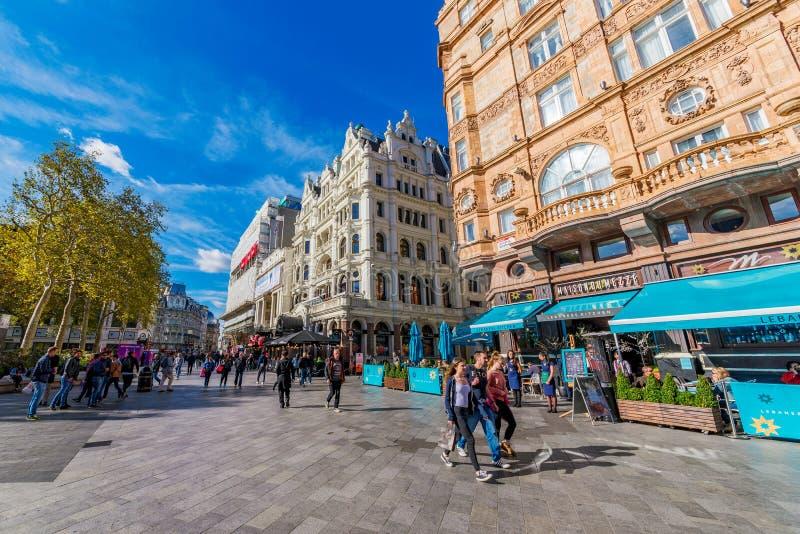 Leicester-Quadrat London lizenzfreie stockbilder