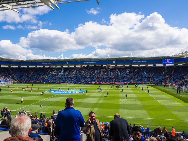 Leicester-Stadt-Stadion Matchday stockfotos