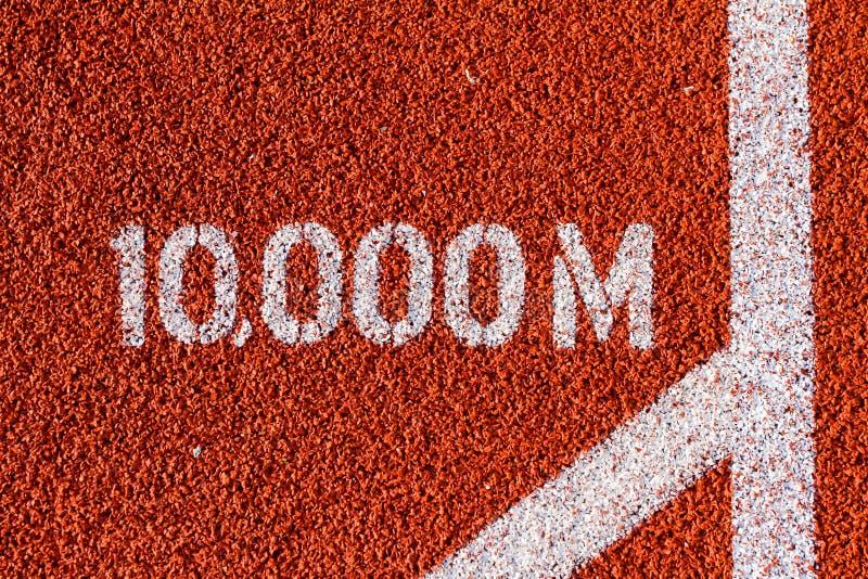 Leichtathletik, die 10,000m Kennzeichen laufen lässt lizenzfreie stockbilder