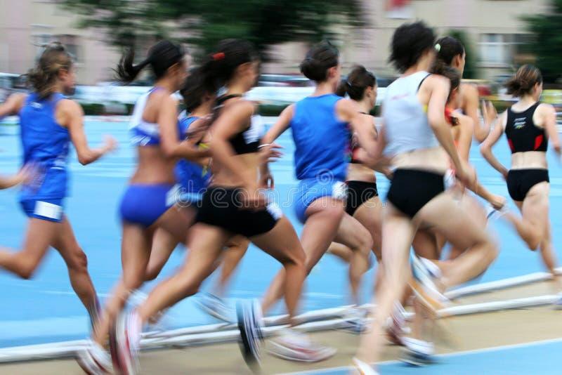 Leichtathletikunschärfe lizenzfreies stockfoto