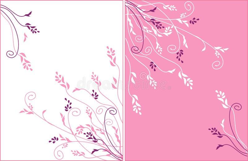 Leichte Blumenvektorverzierung vektor abbildung