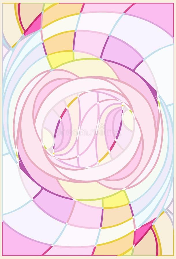 Leichte rosa Linie Abstraktion stockbilder