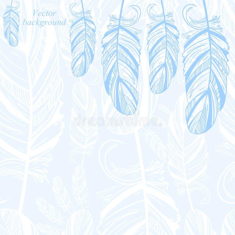 Leichter abstrakter Hintergrund mit Feder vektor abbildung