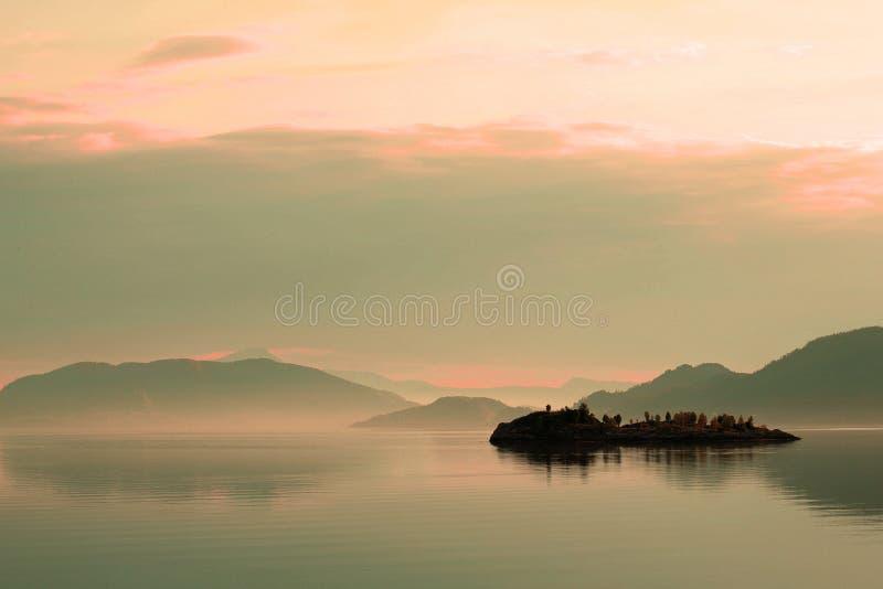 Leichter Sonnenuntergang stockfoto