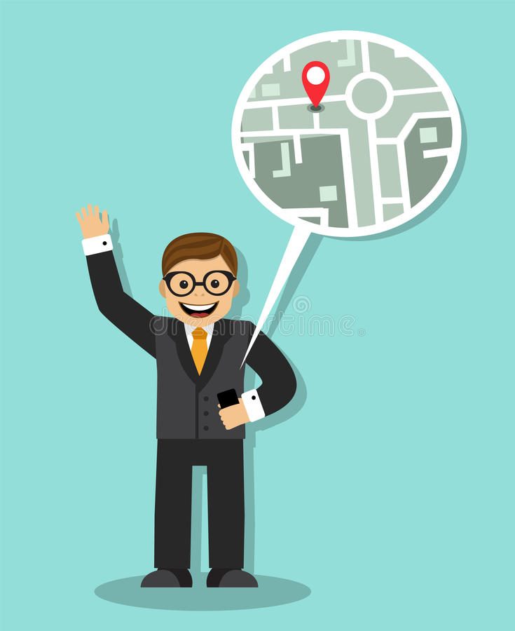 Leichtigkeit der Navigation lizenzfreie abbildung
