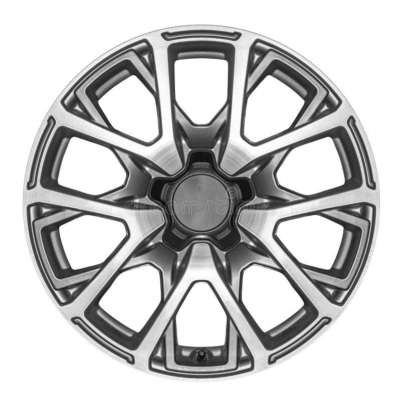 Leichtmetallrad für ein Auto stockfotografie