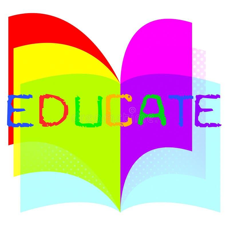 Leid Onderwijs op wijst op de Studie en Opleidend leert vector illustratie