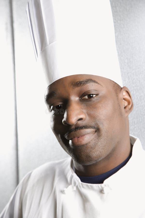 Leid schot van chef-kok. royalty-vrije stock fotografie