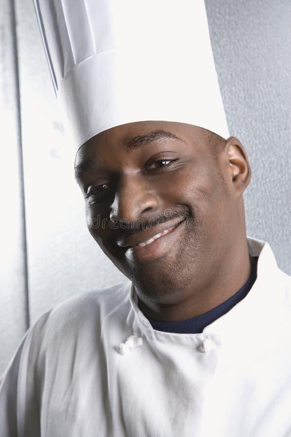 Leid schot van chef-kok. royalty-vrije stock foto