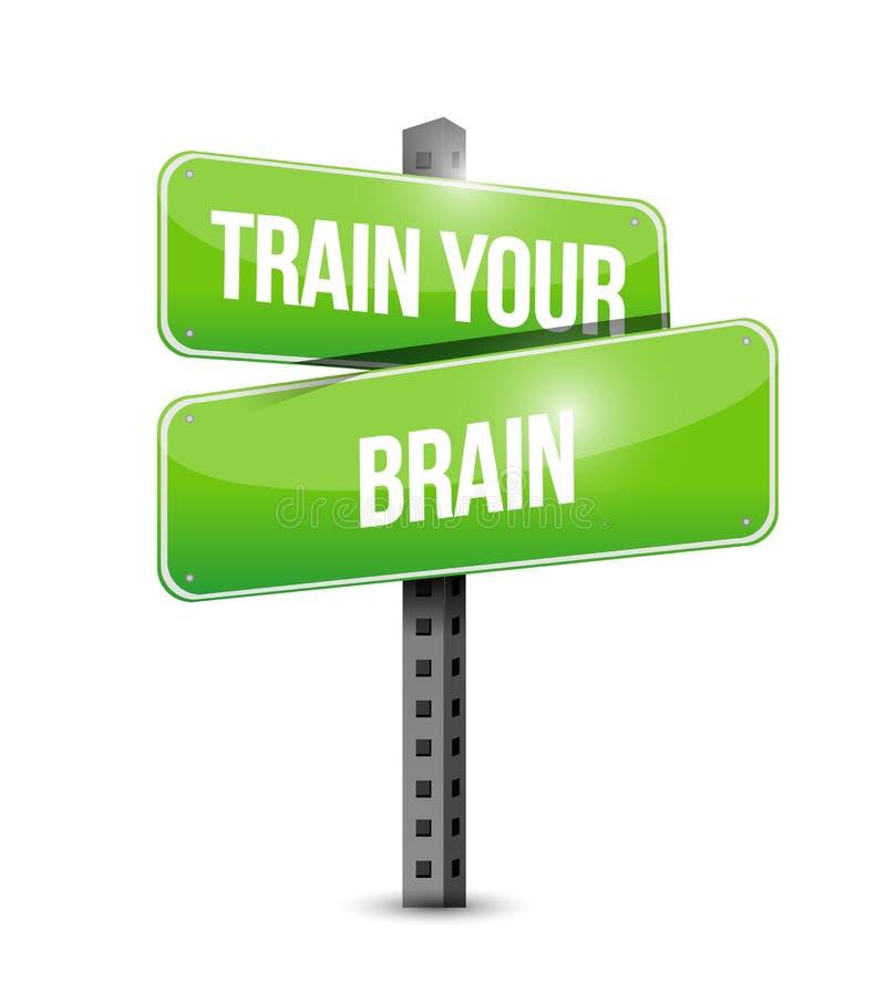 leid uw concept van hersenenverkeersteken op royalty-vrije illustratie