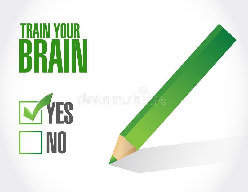 leid uw concept van het de lijstteken van de hersenencontrole op royalty-vrije illustratie