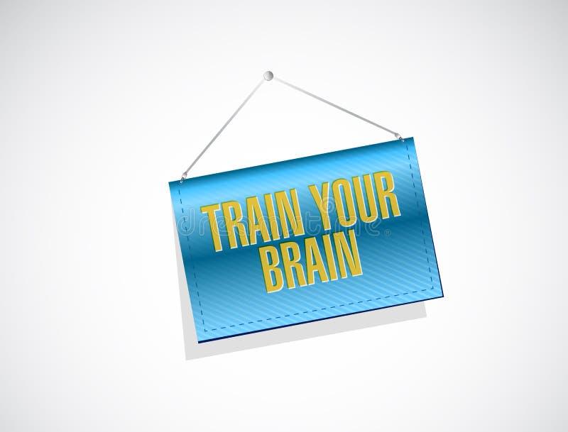 leid uw hersenen het hangen tekenconcept op royalty-vrije illustratie