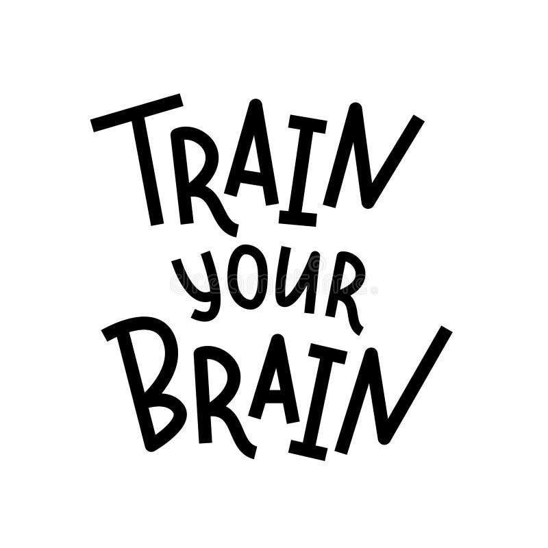 Leid uw hersenen op Hand het van letters voorzien tekstcitaat Vector illustratie Rebecca 36 Ontwerp voor druk vector illustratie
