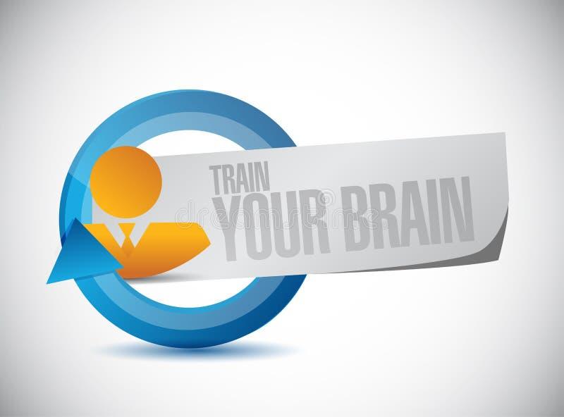 leid uw het tekenconcept op van de hersenencyclus stock illustratie