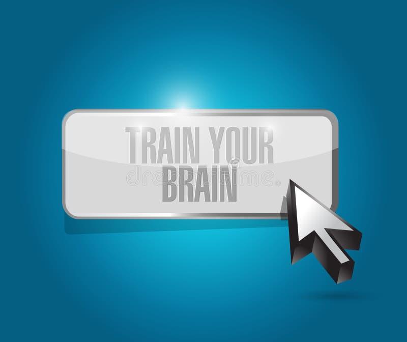 leid uw het tekenconcept op van de hersenenknoop stock illustratie