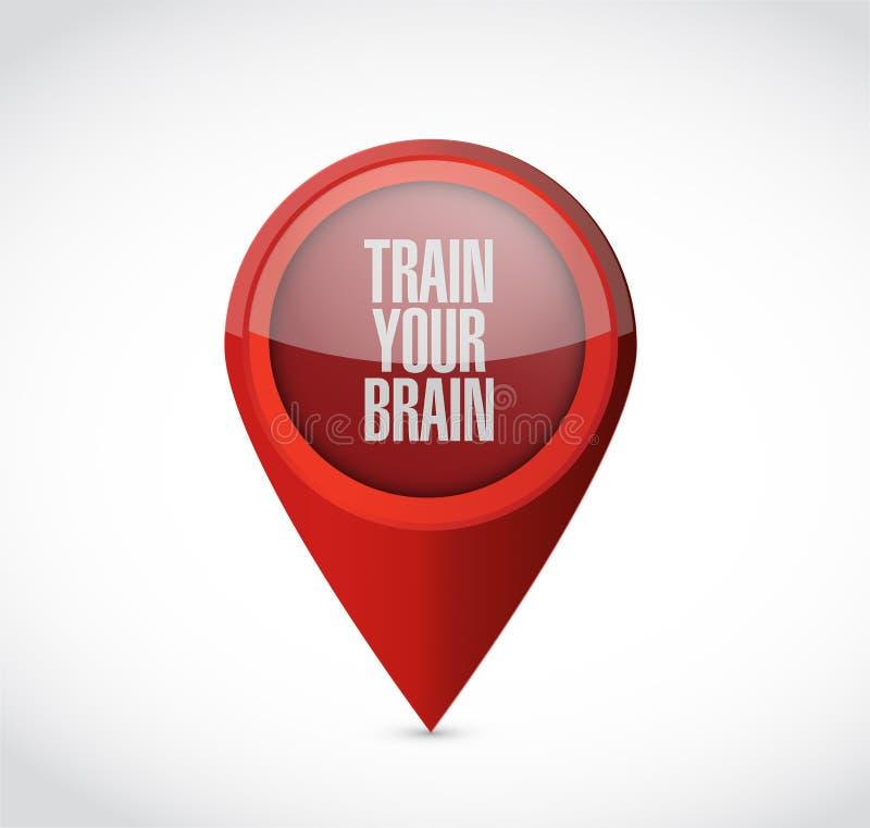leid uw het tekenconcept op van de hersenenwijzer stock illustratie