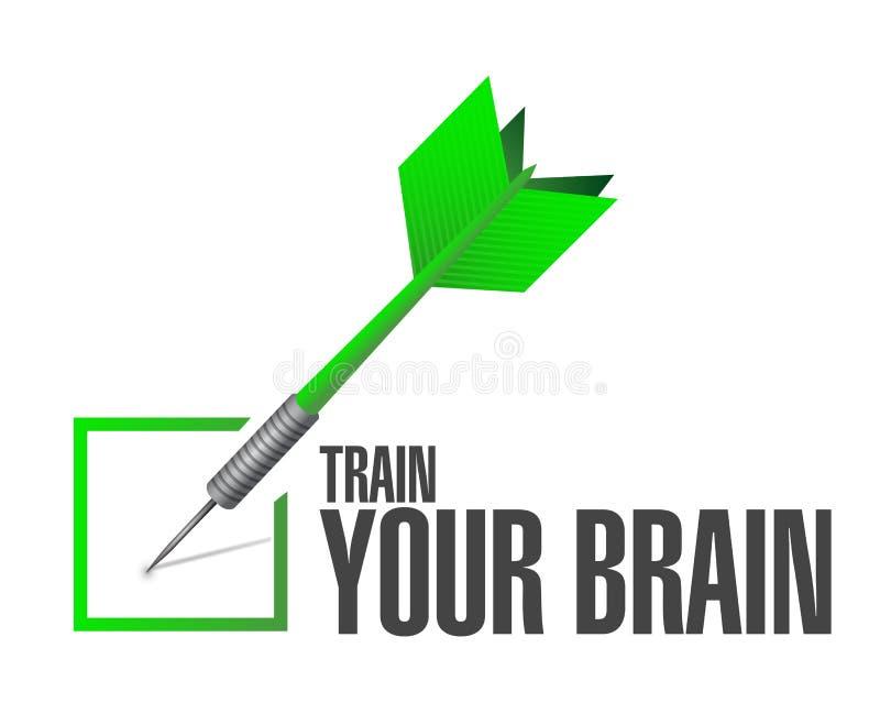 leid uw het tekenconcept op van het hersenenvinkje stock illustratie