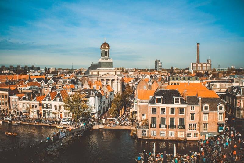 Leiden canal Netherlands stock photos