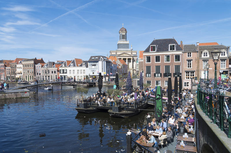 Leiden city center editorial image Image of recreation 56276140