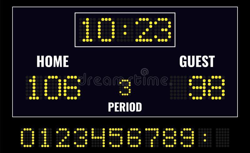 LEIDEN digitaal scorebord stock illustratie