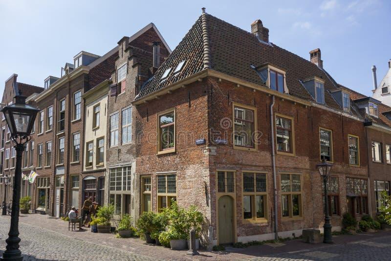 Leiden, Países Bajos - 17 de julio de 2018: Grasa americana del peregrino de Leiden imagen de archivo libre de regalías
