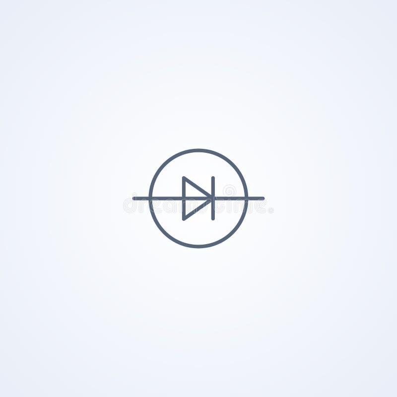 Leiden, vector beste grijs lijnsymbool vector illustratie
