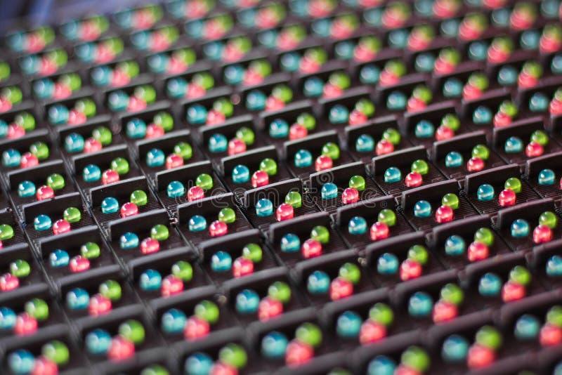 LEIDENE lampen in elektronika stock afbeelding