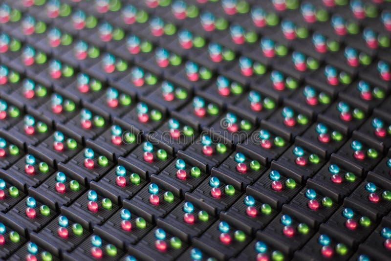 LEIDENE lampen in elektronika stock afbeeldingen