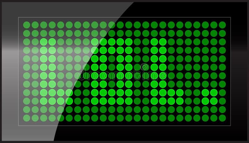 LEIDENE vertoning vector illustratie